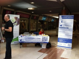 Semaine de prévention du diabète  le stand de Bastia