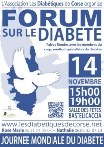 Forum sur le Diabète 14 nov 2013 Ajaccio