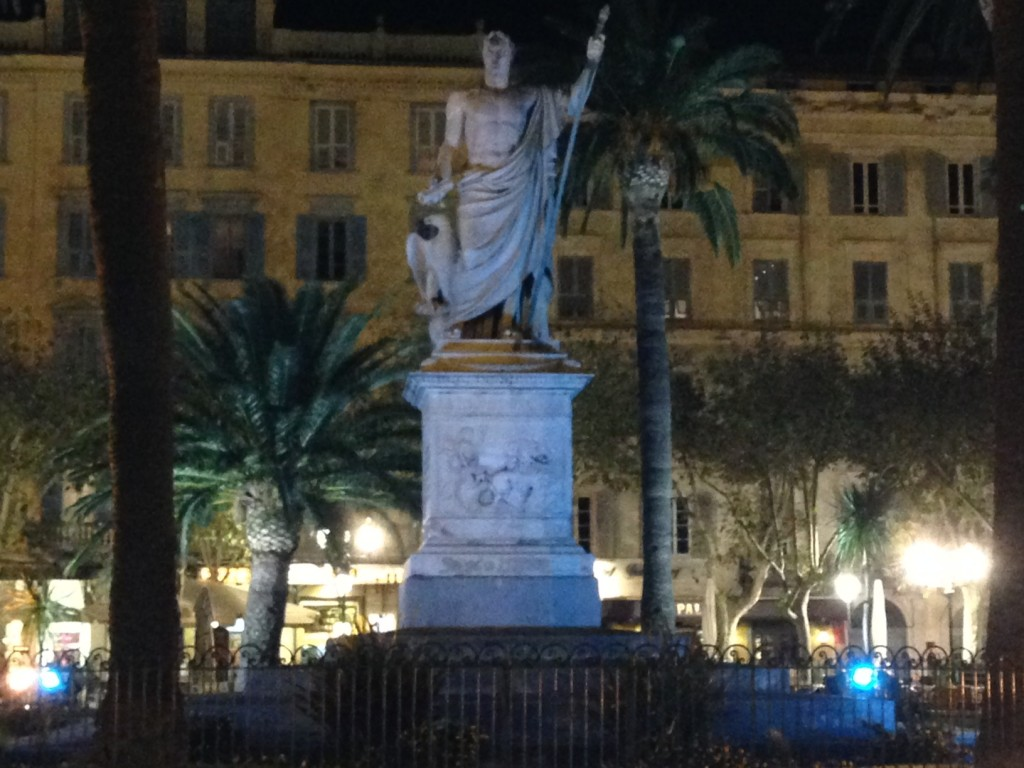 Statue de Napoléon à Bastia