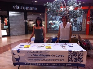 Semaine de prévention du diabète le stand à Porto Vecchio