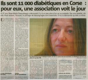 Article Corse Matin du 18 Novembre 2012